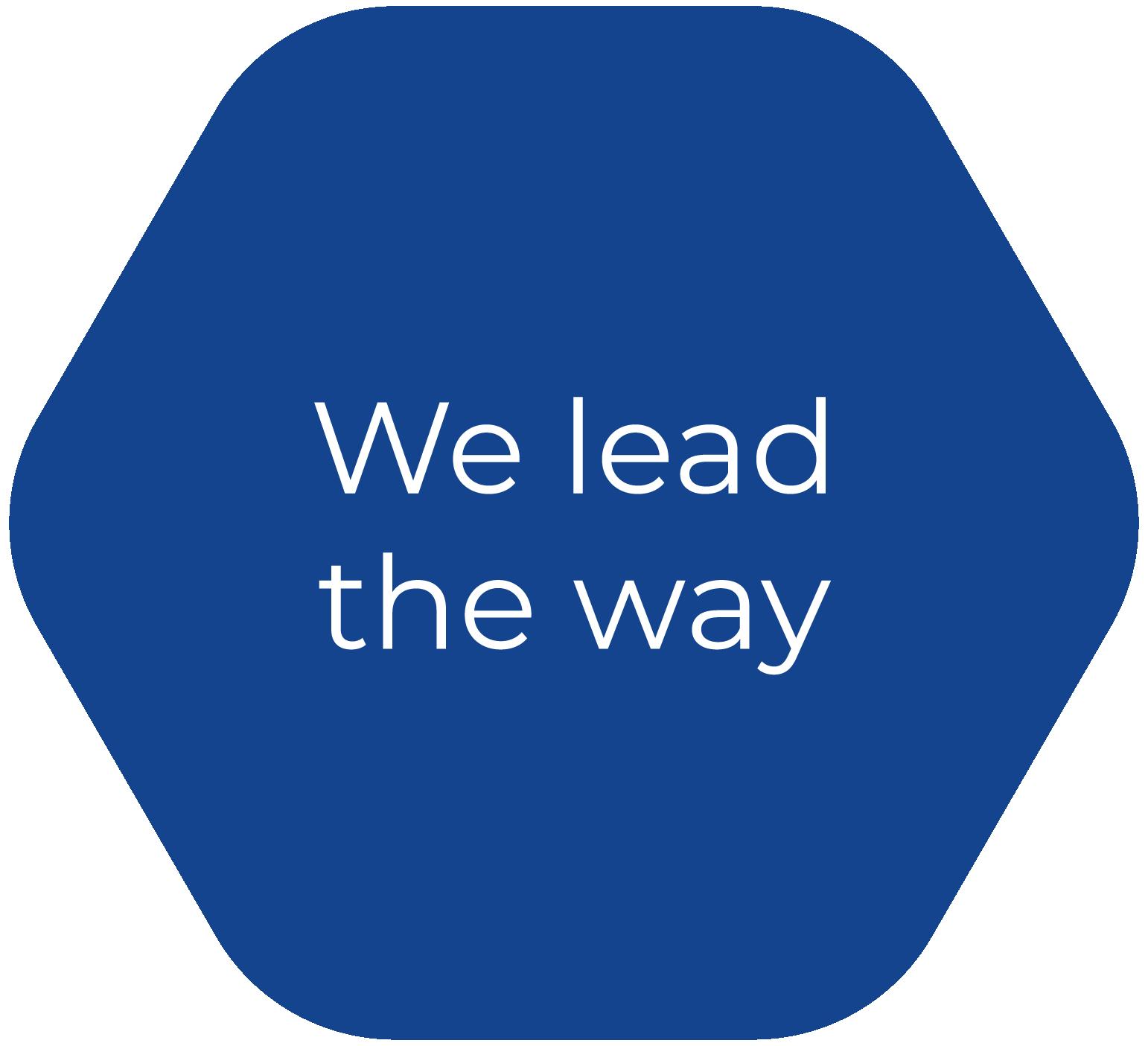 We lead the way